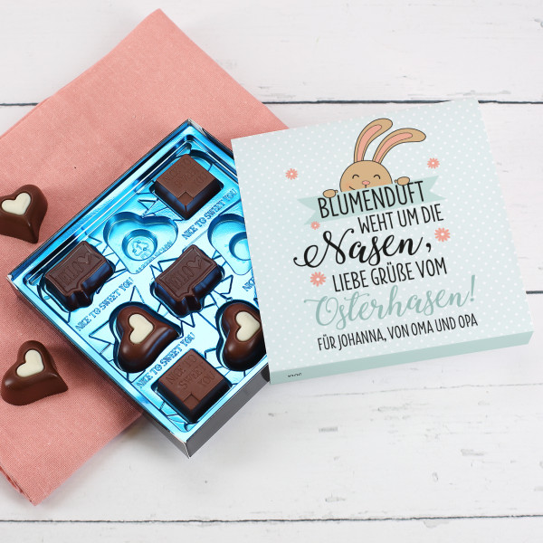Lindt-Pralinen mit personalisierter Banderole zu Ostern