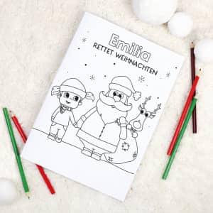 Personalisiertes Malbuch Weihnachten