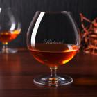 Graviertes Weinbrandglas mit eleganter Gravur