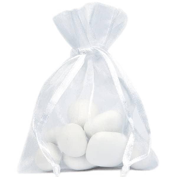 Organzasäckchen in Weiß