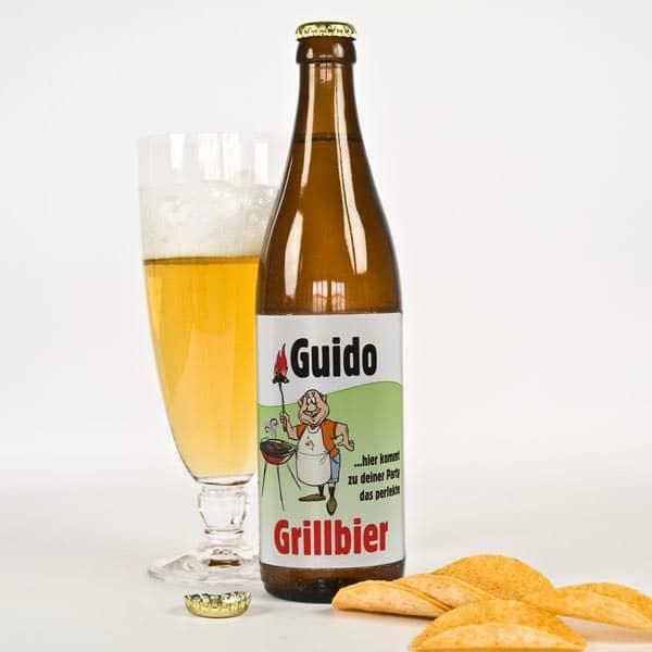 Bieraufkleber Grillbier mit Wunschname