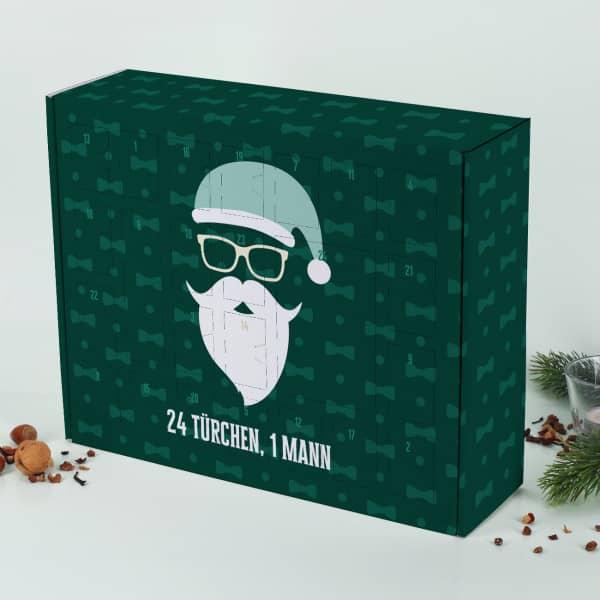 Adventskalender zum selbst Befüllen mit coolem Weihnachtsmann