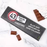 Riesige Schokolade zum Geburtstag - Achtung Alter