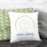 Persönliches Kissen für Jungen zur Taufe, Kommunion oder Konfirmation