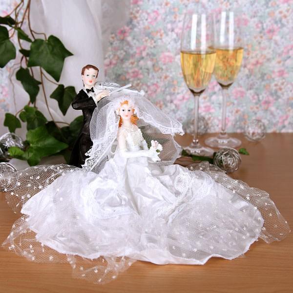 Brautpaar Figur mit langen Kleid