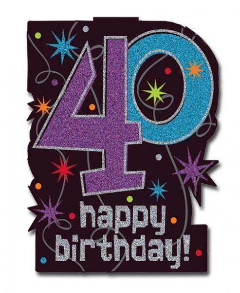 Dekoschild zum 40. Geburtstag