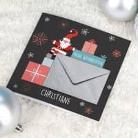 Geldgeschenk Weihnachtskarte mit Name