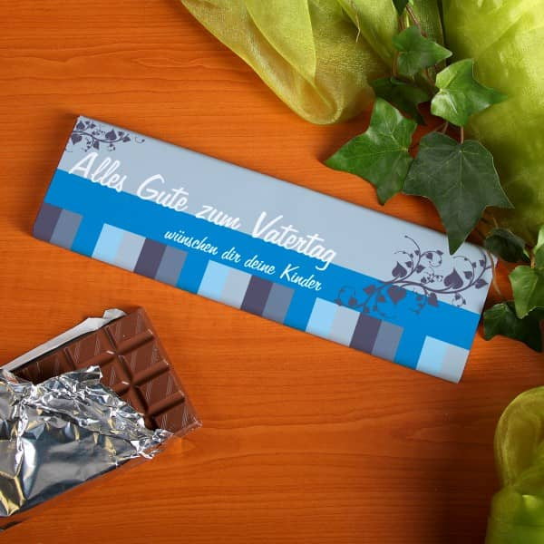 300g Schokolade zum Vatertag mit persönlicher Widmung