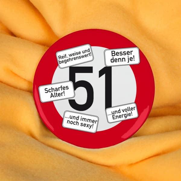 Button Zum 51 Geburtstag