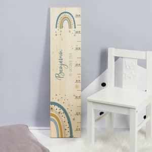 Messlatte Holz für Kinder personalisiert