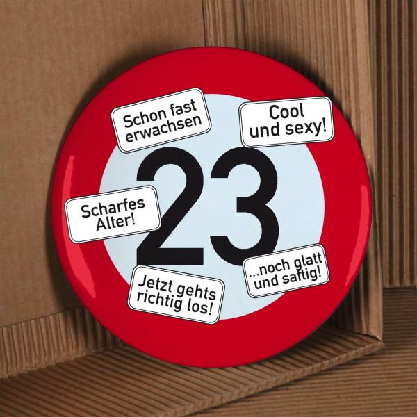 Riesen-Button Verkehrszeichen 23