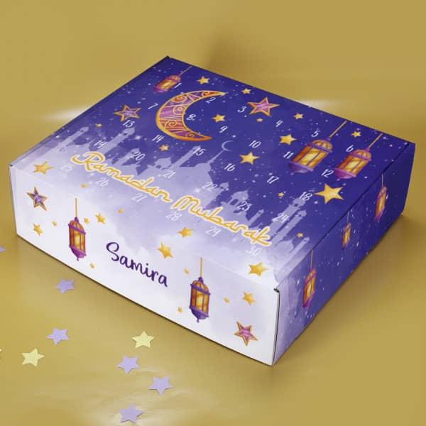 Ramadan Kalender zum selbst befüllen für Kinder mit Name personalisiert