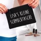 Schwarzes Beautycase in zwei Varianten mit Ihrem Wunschtext