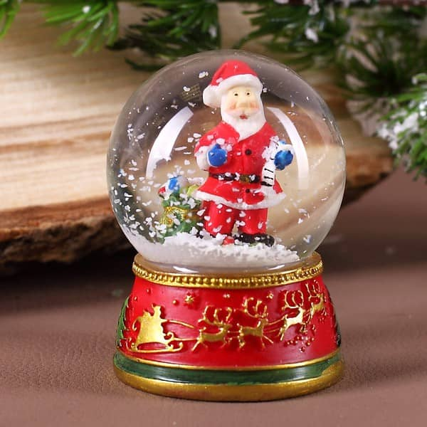 Mini Schneekugel mit Weihnachtsmann