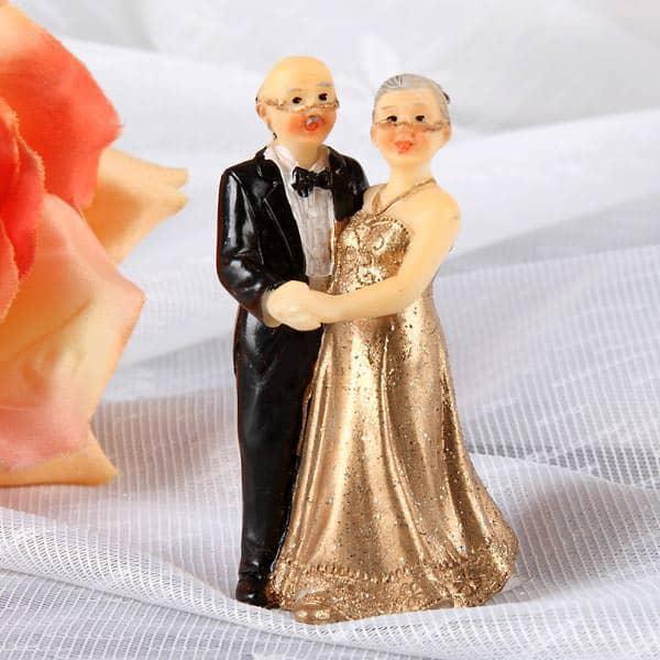 Kleine Deko Figur Zur Goldenen Hochzeit