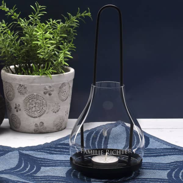 Leonardo Windlicht Aus Metall Und Glas Mit Wunschgravur