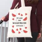 Ich habe eine Wassermelone getragen Baumwolltasche mit Melonen-Motiv