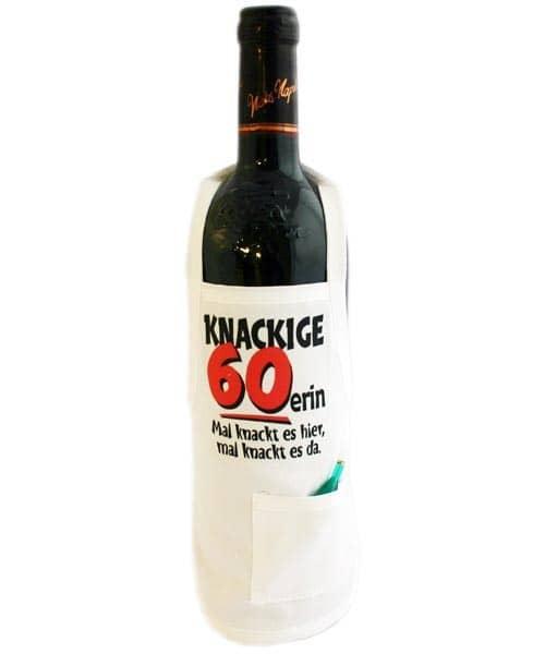 Flaschenschürze - Knackige 60erin