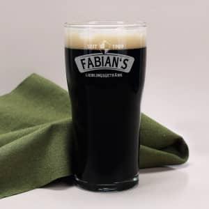 Pint Bierglas mit Gravur