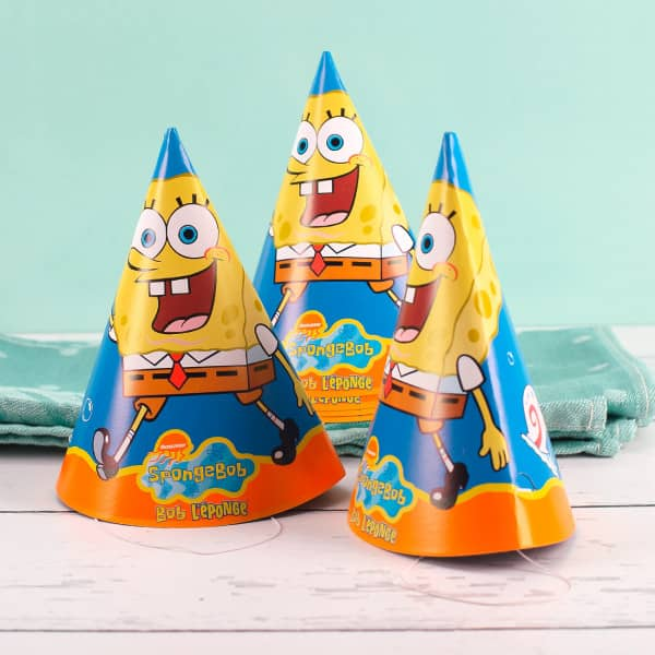 6 Spongebob Partyhüte