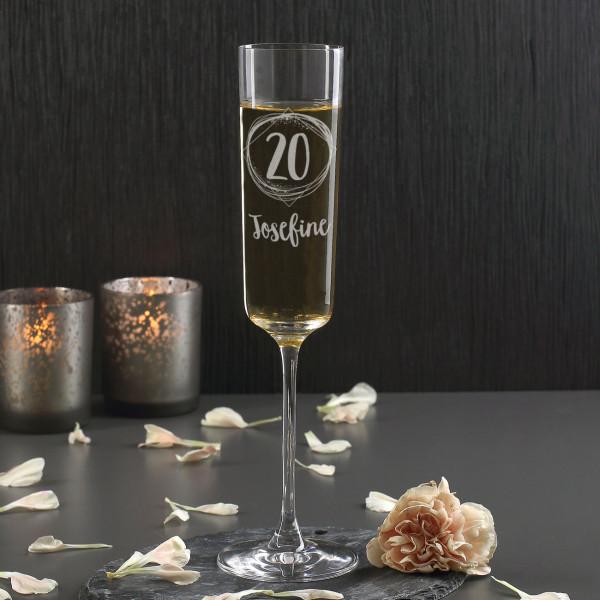 Modernes Sektglas von Leonardo zum Geburtstag