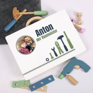 Werkzeugkoffer Kinder mit Foto und Name