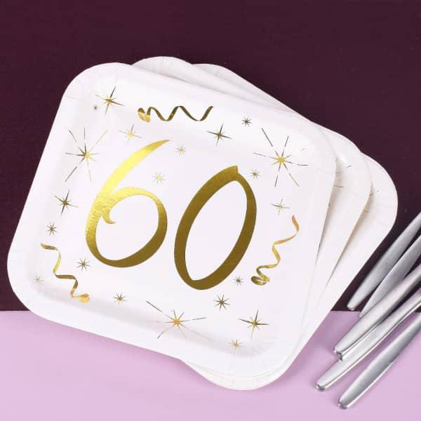 Pappteller zum 60. Geburtstag