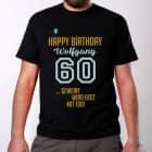 Geweint wird erst mit 100 - Shirt zum 60. Geburtstag mit Name