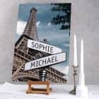 Keilrahmen Leinwand Straßenschilder Paris mit Ihren Namen 60x40cm