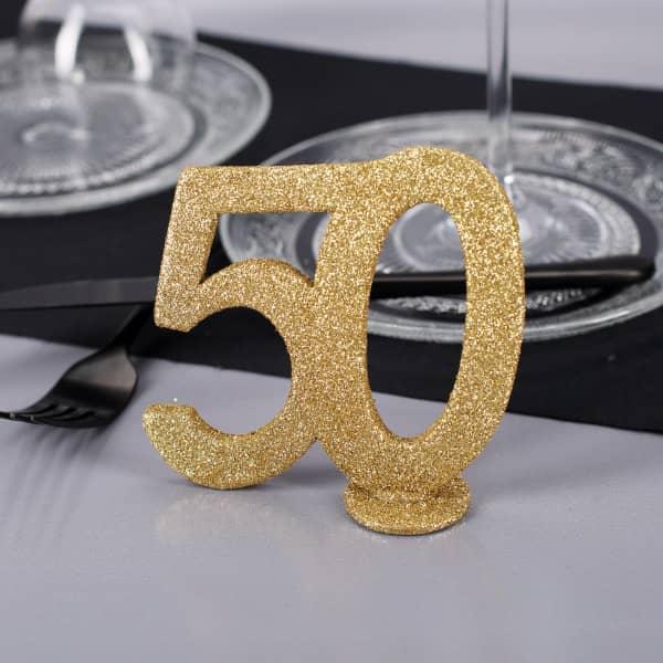 Goldene Dekozahl 50