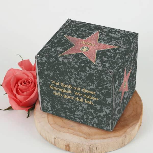 Kleine Verpackungsbox mit Walk of Fame Motiv