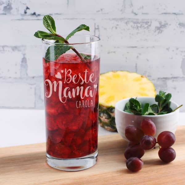Trinkglas ''Beste Mama'' mit Name