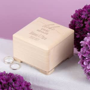 Ringschachtel aus Holz zur Hochzeit