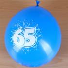8 Luftballons zum 65. Geburtstag