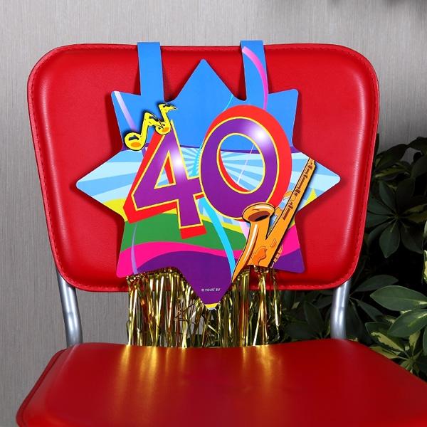 stuhl dekoration zum 40 geburtstag geschenke. Black Bedroom Furniture Sets. Home Design Ideas