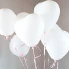 8 Herz-Luftballons in weiß