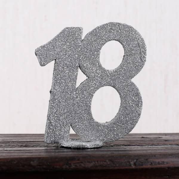 Silberne Dekozahl 18