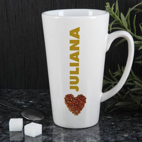 Nützlichküchenaccessoires - Genießertasse groß mit Kaffeeherz - Onlineshop Geschenke online.de