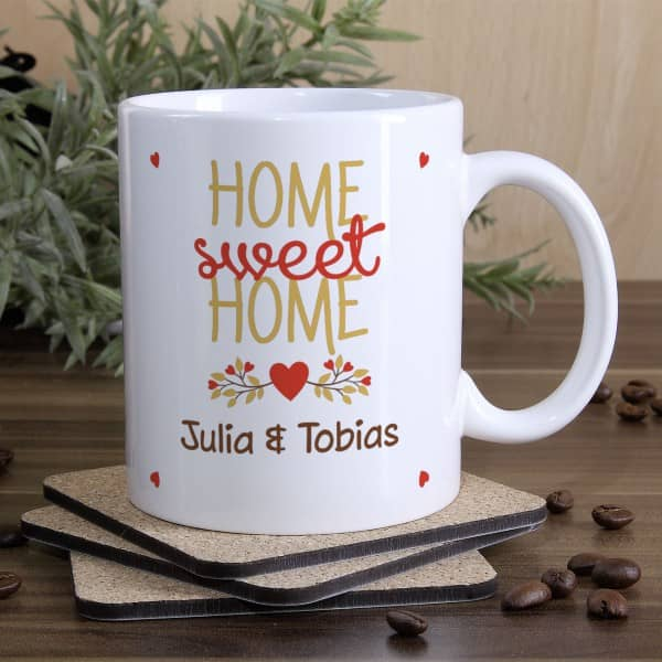 Tasse Home sweet Home mit Namen