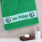 Fußballer - Handtuch mit Wunschname
