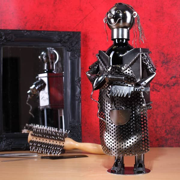 Friseur Figur aus Metall