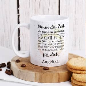 Tasse zur Rente mit Text personalisiert