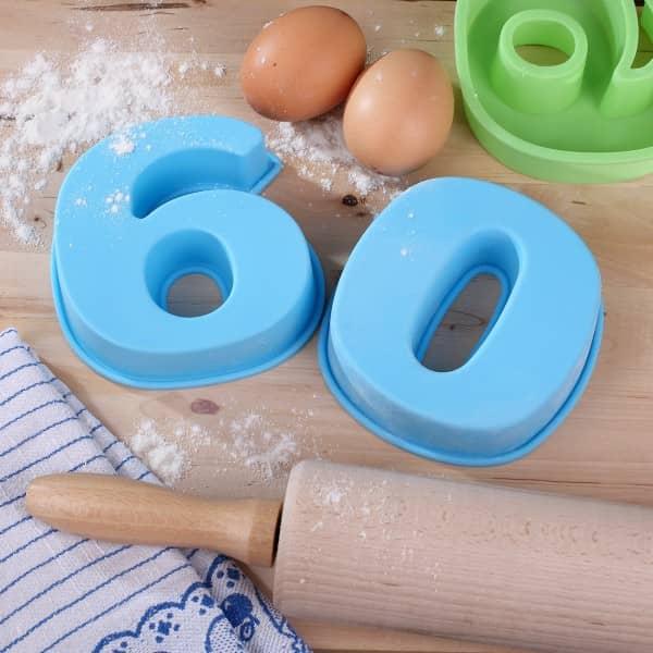 Backform zum 60. Geburtstag, blau
