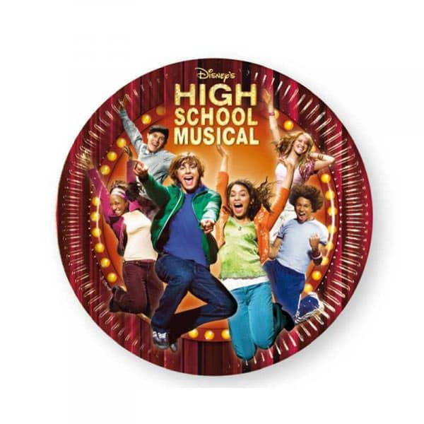 10 Pappteller High School Musical 1