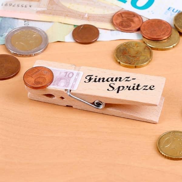Geldklammer Finanzspritze