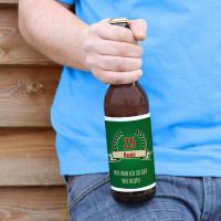 Bieraufkleber-So gut wie heute zum Geburtstag mit Wunschname und Alter