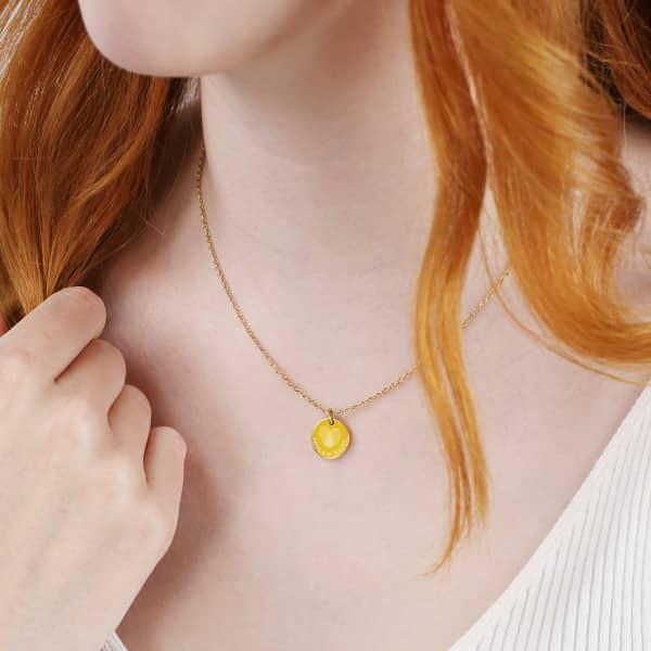 Goldene gravierte Halskette von Leonardo