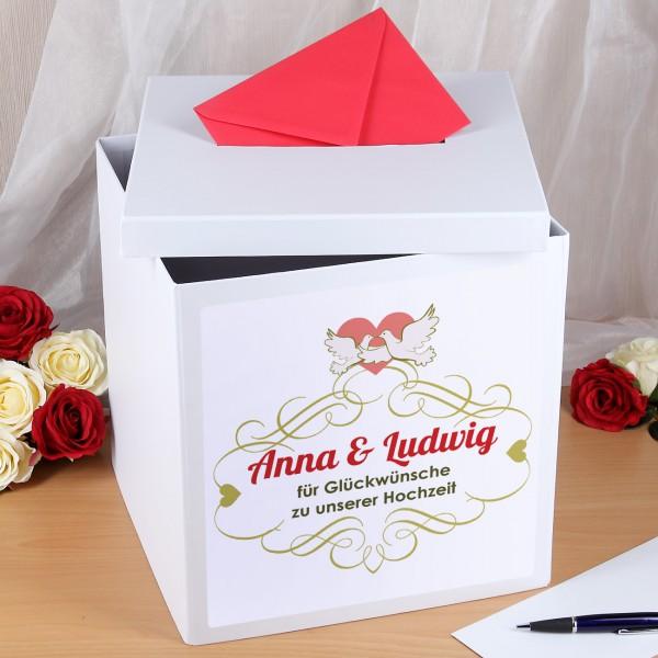Sammelbox Briefbox mit Aufdruck zur Hochzeit