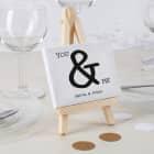 Mini Leinwand You & Me als Tischdekoration