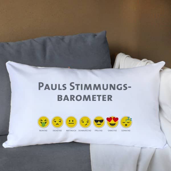 Emoji Kissen Wochentage Wunschtext